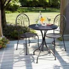 black wrought iron table and chair sets pc outdoor wrought iron bistro black wrought iron table