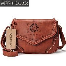 Annmouler Brand <b>Women Shoulder Bag Vintage</b> Pu Leather ...