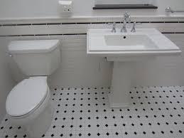 bathroom black white tile flooring sink  images about casa carrelage on pinterest glazed ceramic hexagons and