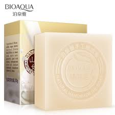 2Pcs/Lot <b>BIOAQUA Goat Milk</b> Handmade Soap Skin Whitening Soap ...