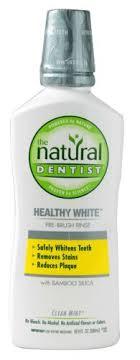 The Natural Dentist Heathy <b>White Pre</b>-<b>Brush</b> Rinse Clean Mint 16 fl oz