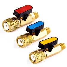 <b>3pcs 3 Color</b> R410A Refrigerant Valve AC Charging Hoses Brass ...