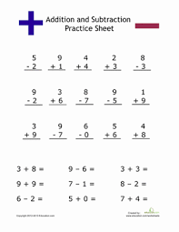 Simple Addition and Subtraction | Worksheet | Education.comFirst Grade Addition Subtraction Worksheets: Simple Addition and Subtraction