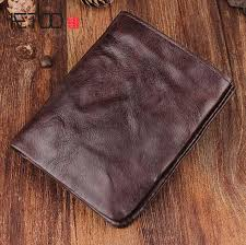 <b>AETOO Vintage</b> hand-fold wallet full leather short paragraph leather ...