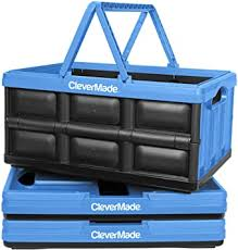 CleverMade <b>Collapsible Plastic Storage</b> Bins with Handles - Multi ...