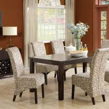 dining table parson chairs interior: interior paint ideas with curtain design and parson chair plus dining table
