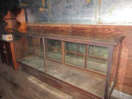 antique oak glass showcase general store oak counter display case antique furniture apothecary general store candy