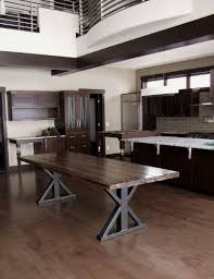reclaimed wood dining bench metal