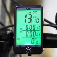 Waterproof Bike Speedometer Odometer With LCD Backlight ...