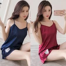 <b>Simulation silk</b> pajamas <b>women's</b> summer short sleeves <b>silk sexy</b> ...