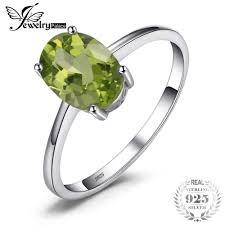 <b>JewelryPalace</b> Classic <b>1.2ct</b> Cushion Cut <b>Natural</b> Peridot Ring Solid ...