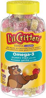 L'il Critters <b>Omega</b>-<b>3</b> Gummy Fish Vitamins, Naturally Sourced ...