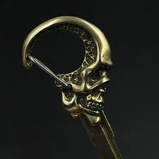 Dark skull <b>Motorcycle</b> Metal uncut <b>blank Key Embryo</b> Modification ...