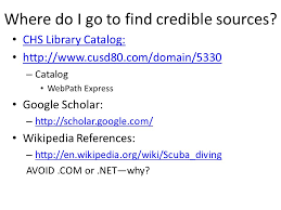research paper basics understanding how to complete research  where do i go to find credible sources chs library catalog http