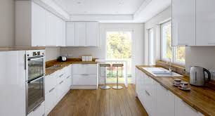 limed oak kitchen units: solid reflections high gloss white wood kitchen cabinets