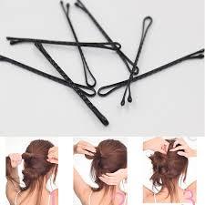 Hot Selling 60Pcs Retro Simple <b>Mini</b> Polish Metal <b>Black Hair Clips</b> ...