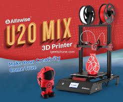 <b>Alfawise U20 Mix</b> Review - FDM 3D Printer at $339.99 (Coupon)