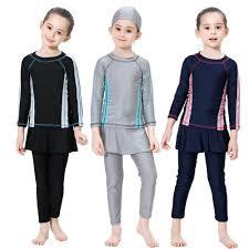 <b>2019 Muslim Swimsuit</b> Kids Two Pieces Girl Swimwear <b>Summer</b> ...