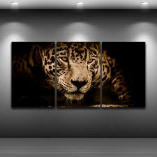 Canvas <b>HD</b> Prints Pictures <b>Home Decor</b> 3 Pieces Jaguar Paintings ...