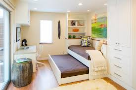 modern trundle bed home office contemporary with barrel side table built alcove contemporary home office