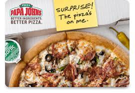 Papa John's Pizza Gift Cards