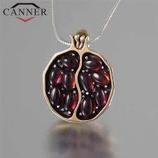 <b>CANNER</b> Vintage Pomegranate <b>Necklace</b> Women Pendant ...