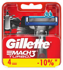 Купить Cменные <b>кассеты</b> для бритья <b>Gillette Mach 3</b> Turbo, 4 шт с ...