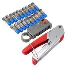 <b>Multitool</b> Wire Stripping Pliers RG59 RG6 Cable TV <b>Crimping Tool</b> ...