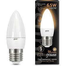<b>Лампа Gauss 103102107</b> LED Candle E27 6.5W 2700К