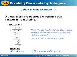 Check It Out  Example  B Insert Lesson Title Here Course       Dividing SlidePlayer