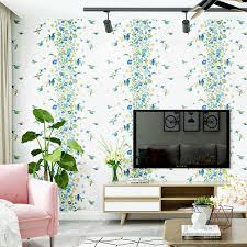 <b>Lovely Flowers Wallpaper</b> Modern Minimalist Pastoral Style Fresh ...