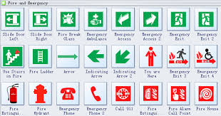 emergency evacuation diagram symbols