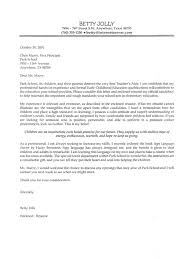 education job sample cover letter cover letters samples