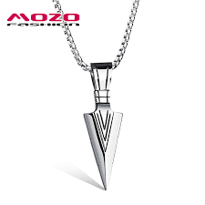 New Men <b>Stainless Steel Arrow</b> Collier <b>Fashion</b> Personalized Gift ...