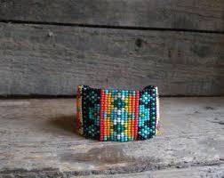 <b>Seed bead</b> earrings Beaded <b>necklace</b> wooden by IrinaJewelryBox