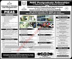 pieas phd scholarships under it endowment fund advertisement pieas phd scholarships 2013 under it endowment fund advertisement
