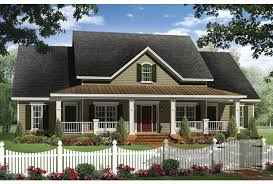 ePlans Country House Plan   Four Bedroom Farmhouse   Rear Side    Front