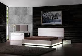 Modern Bedroom Collections Vig Furniture Infinity White Contemporary Platform Queen Bedroom