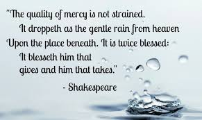 Image result for quality of mercy is not strained