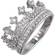 <b>Кольцо Корона с фианитами</b> из серебра
