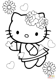 Small Picture Valentines Day Hello Kitty coloring page Free Printable