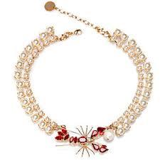 <b>Anton Heunis Позолоченное</b> ожерелье с кристаллами и ...