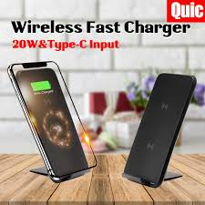 <b>20W Qi Wireless Fast Fast Charger</b> Dock Stand Holder for XS Max ...