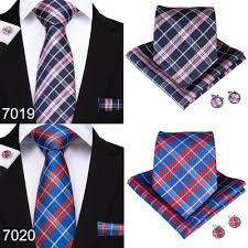 2019 <b>BarryWang 20 Style Plaids</b> Mens Ties For Men Necktie Hanky ...