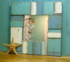 wood bathroom mirror digihome weathered: bathroom mirror would also look cool in l amp as bathroom would be fairly