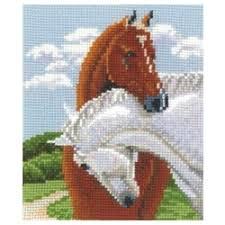 <b>Набор для вышивания Сделай</b> своими руками П-27 Пара лошадей