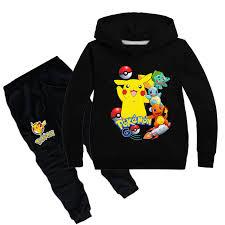 2-16Y Fashion Pokemon Kids Clothing Set Children Clothes Sets ...