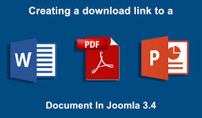 joomla creating a link to a pdf powerpoint or word joomla 3 4 creating a link to a pdf powerpoint or word document