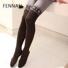 <b>FENNASI Autumn Winter</b> Sexy Warm Women Pantyhose with Print ...