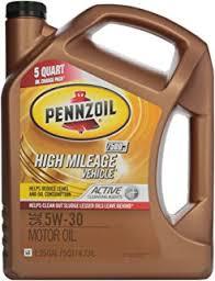 pennzoil 550038340 high mileage vehicle 5w 30 motor oil sn 5qt jug bp castrol office design 5